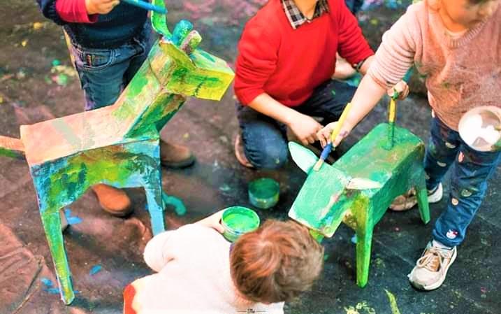 laboratorio pittorico per bambini